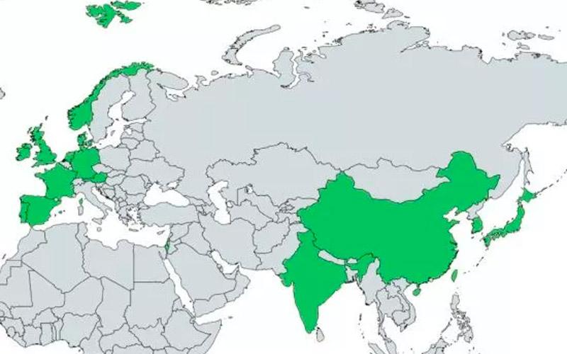 En Asía y Europa es donde los cambios van a pasos acelerados