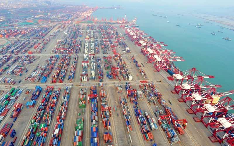 Qingdaos es uno de los principales puertos de China, pero va a la zaga de Hong Kong y Busan