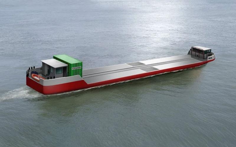 El buque funcionará con hidrógeno comprimido producido por electrólisis