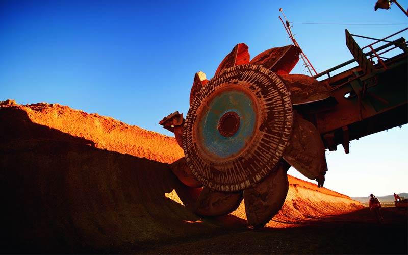 El proyecto de cobre Spence, en Chile, dispone de varias máquinas mineras.