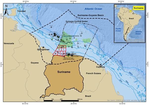surinam ofrece ocho bloques offshore nueva ronda licitaciones ubicacion Shallow Offshore figura 9683