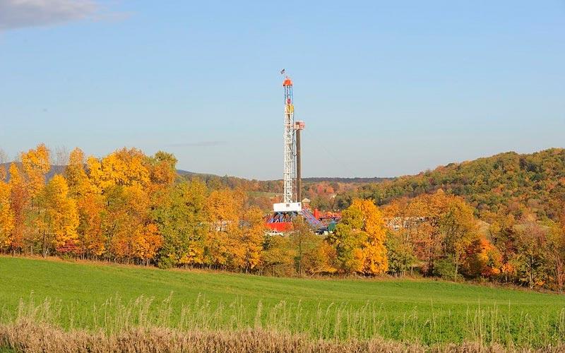 Un pozo de gas shale en la cuenca Apalache